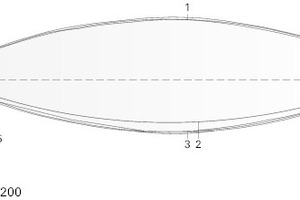 Querschnitt Dachkonstruktion, M 1:200