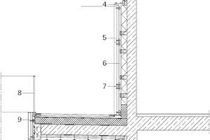 Fassadenschnitt, M 1:100