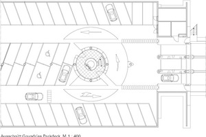 Grundriss Haupteingang Parkebene, M 1:400