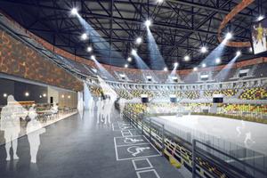 Tribünenbereich der UGMK-Arena