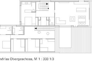 "Grundriss Obergeschoss, M 1:333 <sup>1/<irfontsize style=""font-size: 4.400000pt;"">3</irfontsize></sup>"