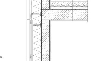 "Fassadenschnitt, M 1:33 <sup>1</sup>/<irfontsize style=""font-size: 4.400000pt;"">3</irfontsize>"