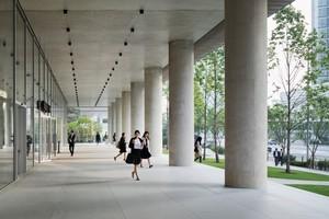 Unten: Die Architekten öffnen das Gebäude im Erdgeschoss für Besucher, in dem sie dort öffentliche Funktionen unterbringen