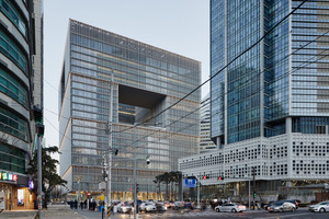 Die Dimensionen in Südkorea 100 x 100 x 100 m sind andere als in Europa. Dennoch ist das Gebäudekonzept auf mitteleuropäische Breitengrade übertragbar, denn die Klimazonen ähneln sich
