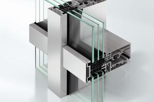Abb.9: Pfosten-Riegel-Fassade (FWS 60 CV) mit integriertem Lüftungsflügel