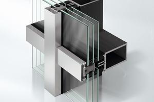 Abb.7: Pfosten-Riegel-Fassade als Stahlaufsatzkonstruktion (AOC 50 ST)