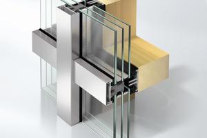Abb.11: Pfosten-Riegel-Fassade als Holzaufsatzkonstruktion (AOC 50 TI)