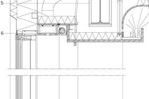 Fassadendetail nach der Sanierung, M 1:25