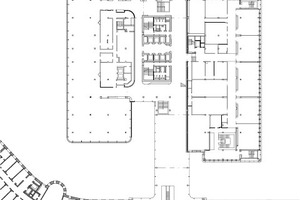 Grundriss 1. Obergeschoss (Kasino, Schulung), M 1:1500