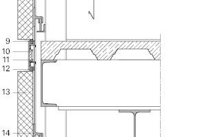 Fassadendetail vor der Sanierung, M 1:25