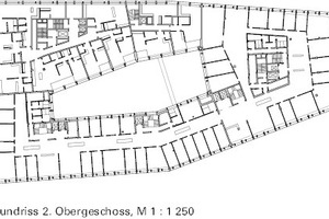 2. Obergeschoss (Pflegezentrum / Büros), M 1:1250