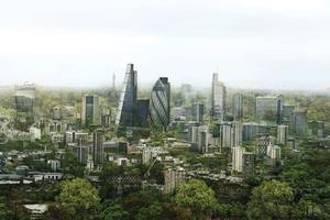 Simulation der begrünten Skyline von London