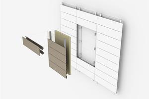Abb. 9: Visualisierung des BioBuild hinterlüfteten Fassadensystems