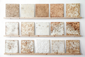"""Abb. 16: Varianz der natürlichen Oberfläche der Mogu Dämmplatten """"HOME"""""""