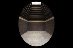 Abb. 6: Innenraum der Cork Cabin, Prototyp für das Eton Cork House zu Forschungszwecken 2016 (Architekten: MPH Architects)