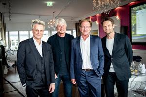 Boris Schade-Bünsow, Christoph Ingenhoven, Burkhard Fröhlich und Michael Kuhn