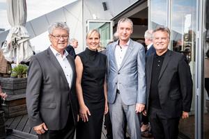 Helmut Zenker, Sandra Greiser, Martin Wittjen und Hartmut Miksch