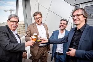 Werner Roßkopf, Dr. Ulrich Lotz, Armin Rogall und Karl-Heinrich Mohr