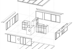 Systemzeichnung der einzelnen Hauselemente<br />