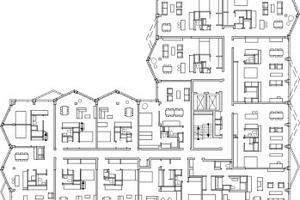 Grundriss 4. Obergeschoss, M 1:750