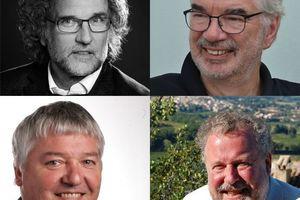 Vier gehen (im Uhrzeigersinn v.l.o.): Hubert Kress, Hartmut Fuchs, Horst Dittrich und Josef Reindl