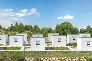 Die Forschungshäuser im Viva Forschungspark im niederösterreichischen Wopfing
