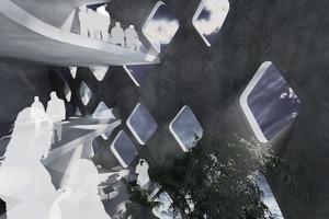 Innenraumperspektive: Die Paneele lassen sich auch innen ablesen<br />