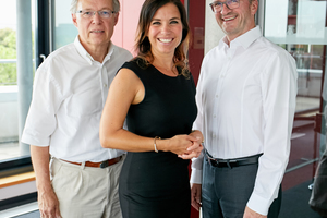 v.l.: Wolfgang Zimmer, Nina Bendler, Axel Koschany