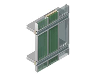 Bioenergiefassade mit drei Gestaltungsvarianten