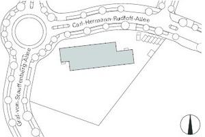 Lageplan, M 1:2500