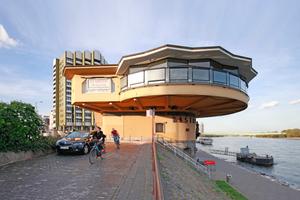 Panorama-Restaurant im expressionistischen Stil: die Bastei am Kölner Rheinufer