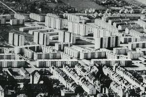 Luftbild der Gartenstadt Süd in Bremen aus dem Jahr 1962