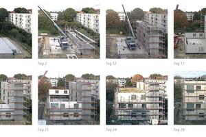 Die Bauzeit der ersten drei Prototypen betrug aufgrund des hohen Grads an Vorfertigung nur vier Wochen