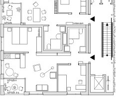 "1. Obergeschoss, M 1:333 <sup>1</sup>/<irfontsize style=""font-size: 4.400000pt;"">3</irfontsize>"