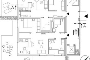 "Erdgeschoss, M 1:333 <sup>1</sup>/<irfontsize style=""font-size: 4.400000pt;"">3</irfontsize>"