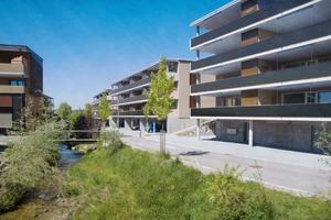 PlusEnergie-Siedlung Zentrum Tobel in Tobel/CH − Fent Solare Architektur, Will/CH