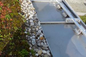 Bild1: Überblick über den Traufbereich der Dachfläche