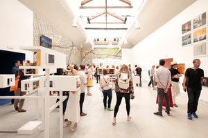 Giardini, Zentraler Pavillon: Ausstellungsathmosphäre