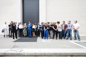 Giardini, Österreichischer Pavillon: Vor der Eröffnung: das komplette Team der Österreicher