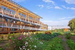 Das Urban-Gardening Projekt im Hof führt zur Integration der Flüchtlingsfamilien, denn gemeinsames Gärtnern fördert die Kommunikation und die soziale Bindung