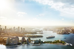 Green Garden Island Sydney, Stadterweiterungsfläche im Hafen