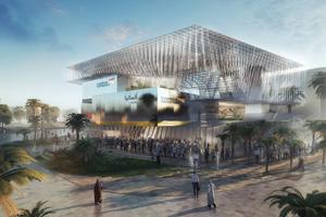 Deutscher Pavillon EXPO 2020 Dubai: temporäres Gebäude als Materiallager