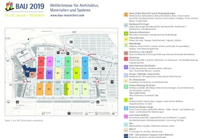 Hallenplan BAU 2019