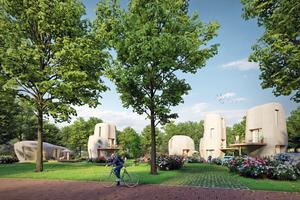 Das erste 3D-gedruckte Haus soll im niederländischen Bosrijk/Eindhoven entstehen