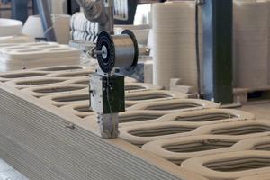 Beim 3D-Betondruck wird Material nur dort aufgebracht, wo es konstruktiv notwenig ist