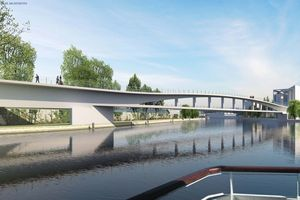 Eine neue Fußgängerbrücke im Süden stärkt die Verbindung über die Spree