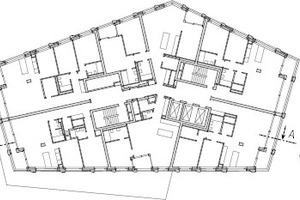 Grundriss 6. Obergeschoss, M 1:750