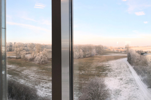 Der Blick in die Ferne ist immer auch einer in die Zukunft. Hier aus der ehemaligen Schlecker-Zentrale in Ehingen auf das Auenland der Donau ... die bis nach Wien (Horx) und weiter fließt