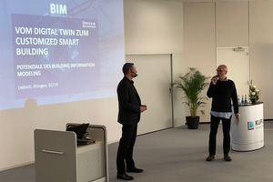 Peter Liebsch zum Thema BIM im Gespräch mit Zuhörern und Moderator
