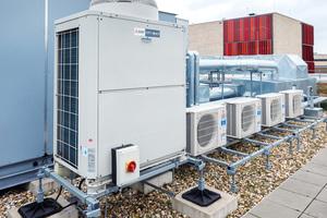 Bild 05 Das verhältnismäßig niedrige Anlagengewicht sowie die kompakten Abmessungen der Außengeräte prädestinieren VRF-Systeme für den zusätzlichen und nachträglichen Einsatz in Bauprojekten
